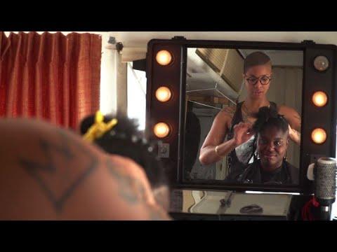 Project Q, le salon de coiffure itinérant pour