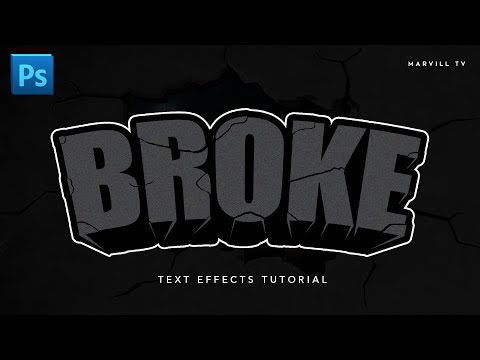 How to make Broke 3D Text effect in Adobe Photoshop | TAGALOG TUTORIAL