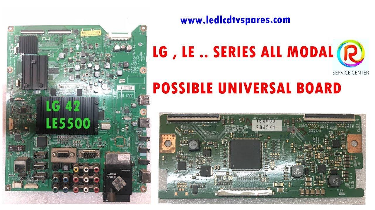LG 42 LE5500 DOUBLE LVDS DIRECT PANEL UNIVERSAL POSSIBLE