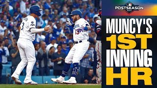 Dodgers' Joc Pederson doubles, then Max Muncy homers to start LA off in 1st inning of NLDS Game 5
