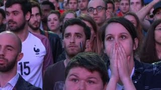Euro 2016: Paris fan zone reacts to France-Switzerland draw