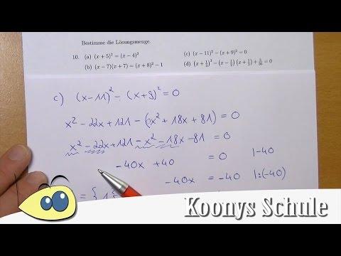 4 Gleichungen lösen mit binomischen Formeln inklusive - Übungen ...