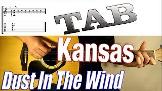 (Kansas) Dust In The Wind (Fingerstyle Guitar Cover) FREE TABS