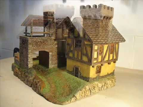 Borgo medievale in polistirene youtube for Costruire un cottage