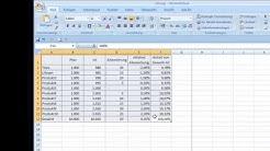 Rahmenlinien in Excel-Tabellen zeichnen