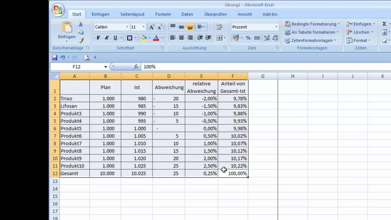 Rahmenlinien in Excel-Tabellen zeichnen - YouTube