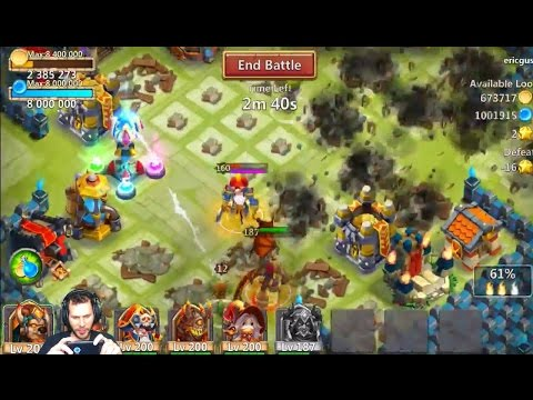 Double Evolving My 7/8 Bukwark Grimfiend SMASHING Bases With Him Castle Clash