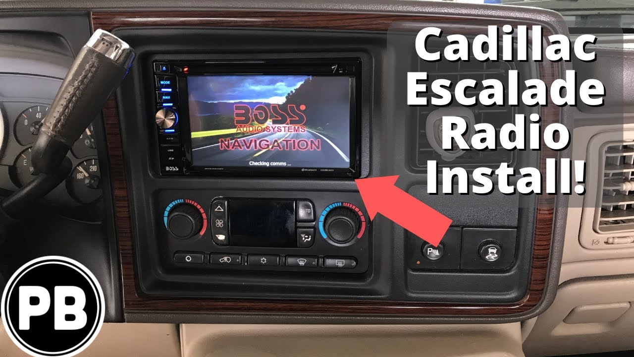 hight resolution of 1999 2006 cadillac escalade boss touch screen stereo install