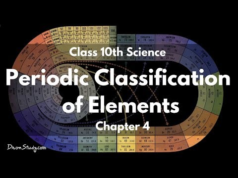Periodic Classification of Elements : CBSE Class 10 X Science (Chemistry)