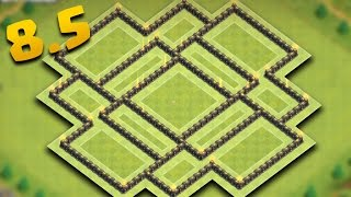 Clash Of Clans | Town Hall 8.5 Farming/Hybrid Base (TH8.5 Queen, Walls, Storages, Traps, Tesla, AD)