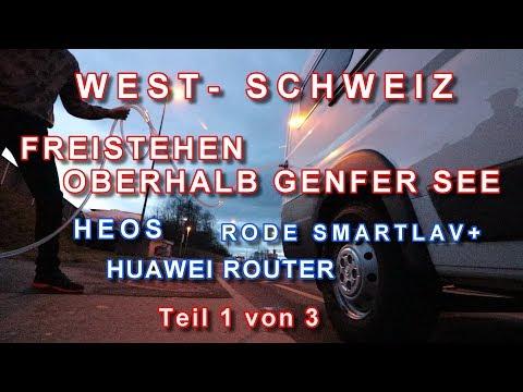 WEST-SCHWEIZ, FREISTEHEN NAHE GENFER SEE, HEOS WATER CONNECT, HUAWEI ROUTER, ANSTECKMIKROFON, #1v3