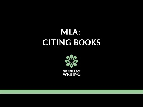 MLA (8th ed.): How To Cite Books