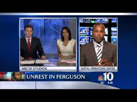 Delaware County defense attorney Enrique Latoison, NBC 10, 8/19/2014 at 5:44 pm, discussing Ferguson City, Mike Brown, Officer Darren Wilson