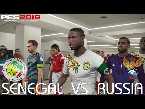 PES 2018 (PC) Senegal v Russia @ St. Jakob Park | Official 2018 FIFA World Cup Kits & Ball