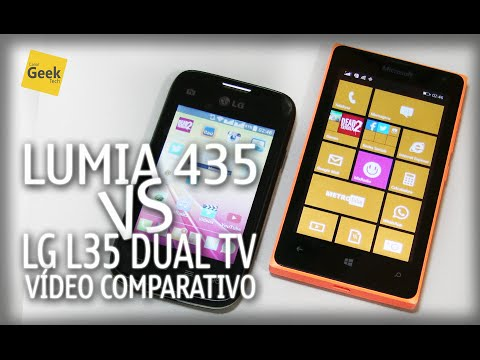 Microsoft Lumia 435 vs LG L35 - [Vídeo Comparativo]
