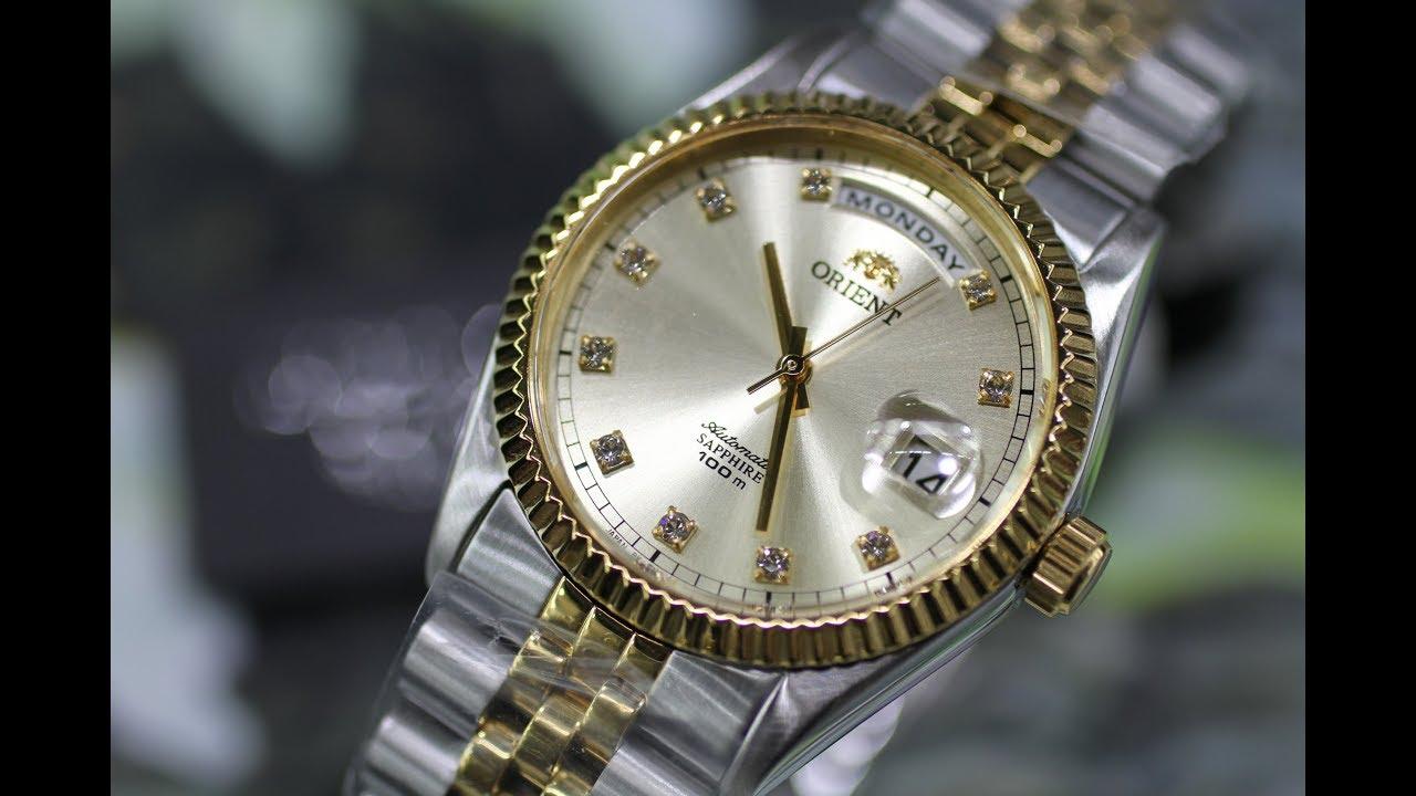 đồng hồ orient giành cho người già mạ vàng