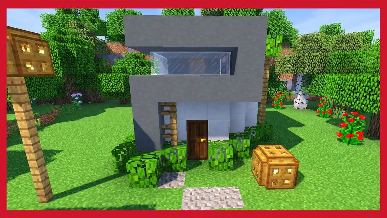 Minecraft come costruire una piccola casa moderna youtube for Casas modernas minecraft keralis