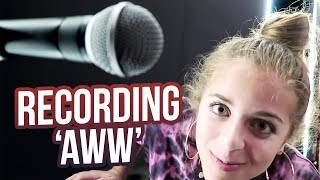 RECORDING MY FIRST SONG!