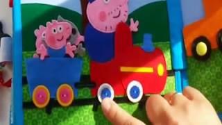 """Развивающая (успокаивающая) книжка №3 """"Свинка Пеппа""""/Quiet book #3 Peppa Pig (for little boy)"""