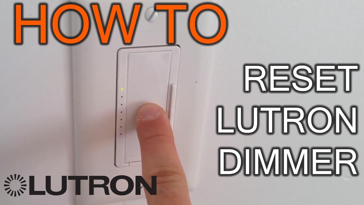 medium resolution of how to reset lutron dimmer youtube rh youtube com