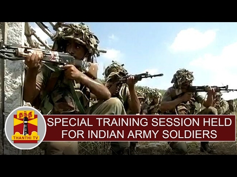 Officers Training Academy : Special training session held for Indian army soldiers at Vandalur