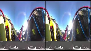 Superman Roller Coaster 360 VR POV Six Flags Fiesta Texas Virtual Reality 3D VR HD