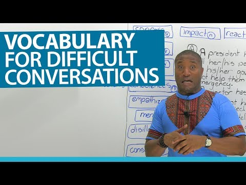 English Vocabulary for difficult situations: confess, regret, condolences...