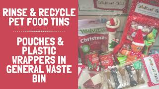 Giving your pets a treat this Christmas? Don't forget empty pet food tins can be popped in your r...