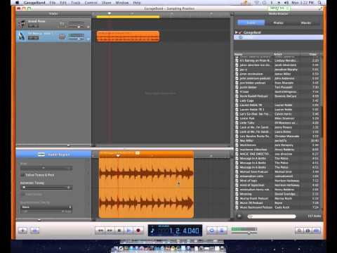 Garageband '11- How to Create a Sample from an MP3