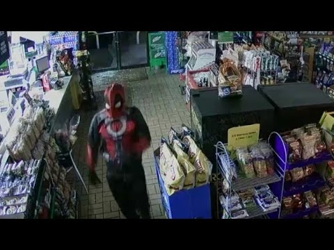 Watch Thieves Disguised as Marvel Antihero 'Deadpool' Steal ATM from Store