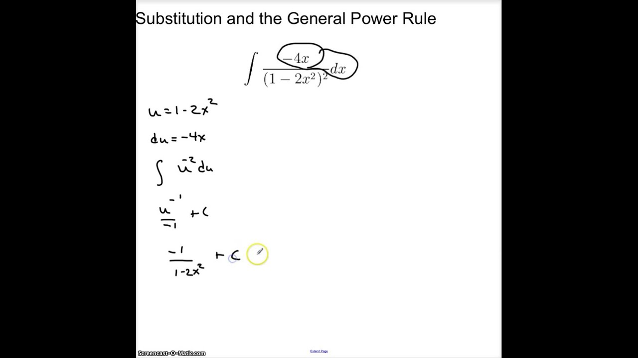 4 5 3 general power rule for integration