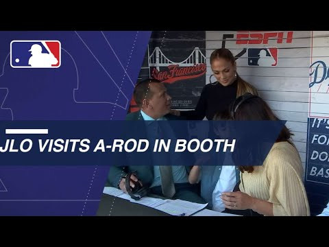 J-Lo visits A-Rod during booth debut