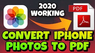 How to convert photos to pdf in iPhone | Photos to pdf in iPhone | how to make photos into pdf