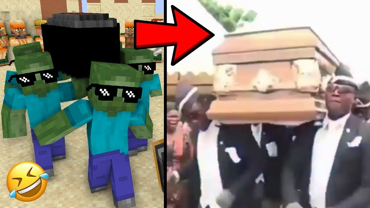 Monster School : Coffin Dance Moments - minecraft animation