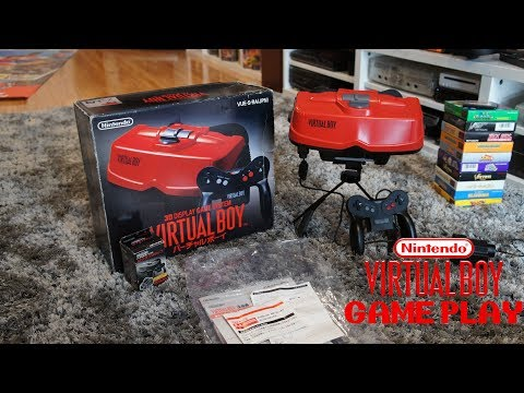 Virtual Boy Unboxed and Game play Mario Clash / Red Alarm   Retro Gamer Girl
