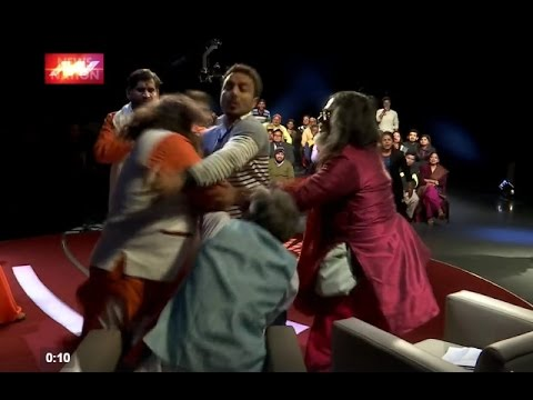 Bigg Boss 10 Exclusive OM Swami Fight in News Channel Discussion
