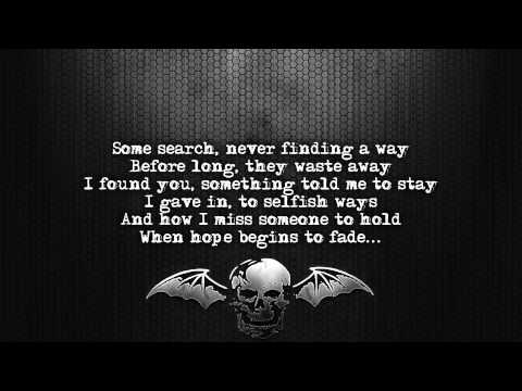 Avenged Sevenfold - Dear God [Lyrics on screen] [Full HD]