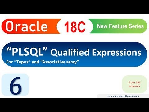 Oracle 18C New Feature : PLSQL Qualified expression - YouTube