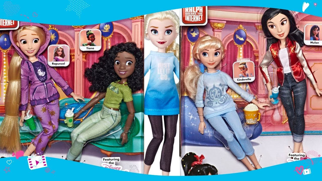 New Doll Sets With All Disney Princesses Ralph Breaks The Internet From Hasbro Youtube