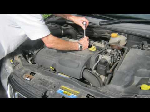 changing the ignition coils and spark plugs on a '06 saab 9-3