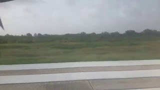 Taking off from Ogle International Airport, Georgetown, Guyana.