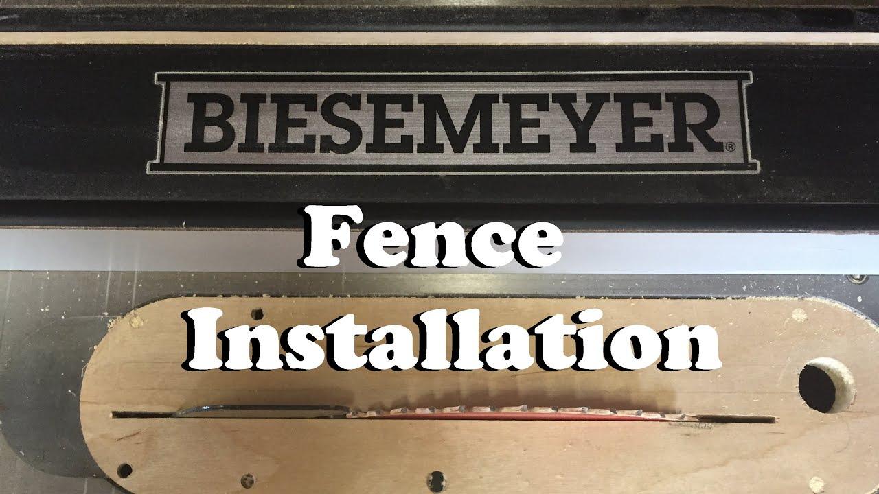 Biesemeyer fence installation youtube biesemeyer fence installation greentooth Image collections