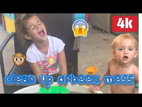 Orbeez or lil gen waterbeads clean up ! | how to clean up orbeez ?! | What a mess !!!