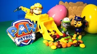 PAW PATROL  Candy Egg Surprise Toys Video Parody