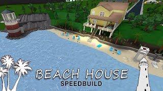 Roblox Bloxburg | Beach House Speedbuild