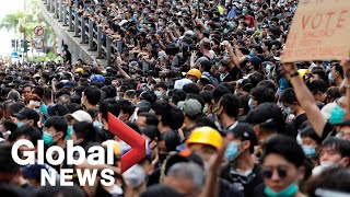 Hong Kong anti-extradition bill protests flare outside police HQ after demands unmet