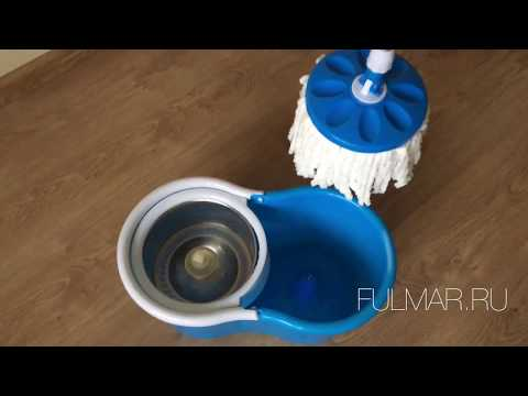Как поменять тряпку на швабре с отжимом