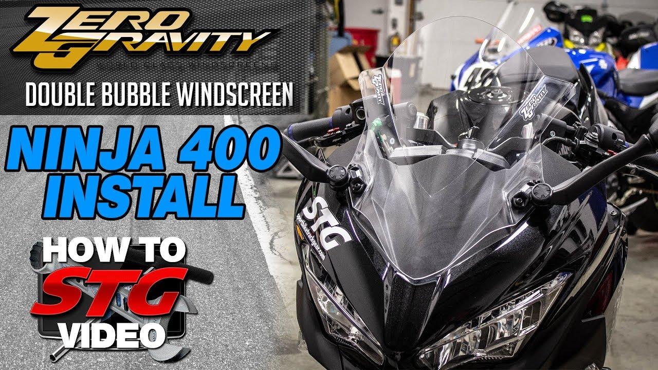 KAWASAKI Ninja 400 (from 2018 on) Double bubble racing screen