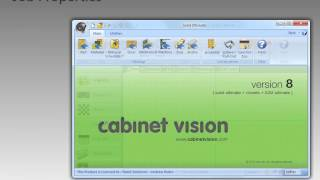 Cabinet Vision Version 8 Job Properties, Layout, Materials, And Parts