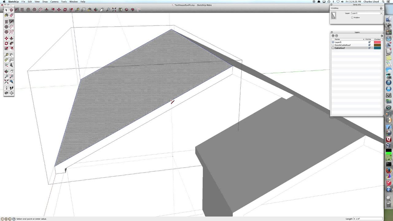 Sketchup Nederlands Sketchup Dutch Gable In Nested Gable Using Followme And